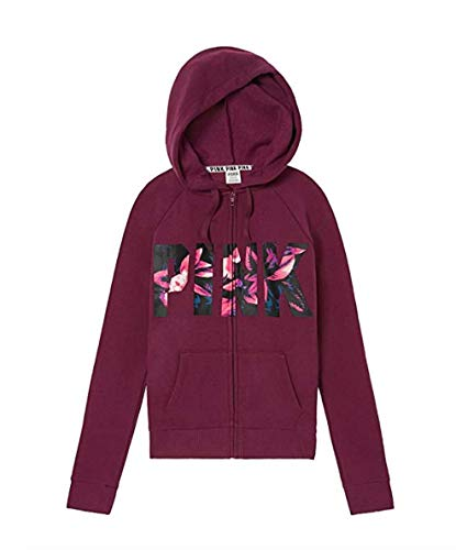 8e8526926cc Victoria s Secret Pink Perfect Full-Zip Hoodie Deep for sale Delivered  anywhere in USA