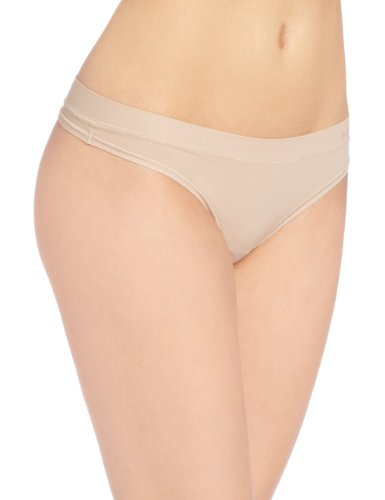 b.tempt'd by Wacoal Women's Fits Me Fits You Thong Panty, Au Natural, One Size