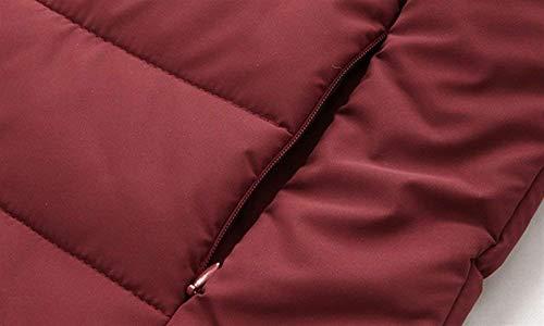 Collare Manica Sportiva Burgunderrot Del Cappotto Uomini Tuta Sport Trapuntato Cotone Colore Giacca Supporto Parka Abbigliamento Solido Lunga Ntel Degli Calda nZYxf8