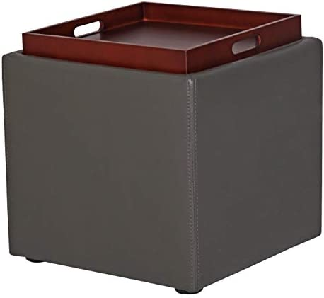 Amazon Brand Rivet Ross Modern Vegan Faux Leather Lift-Top Storage Ottoman Pouf