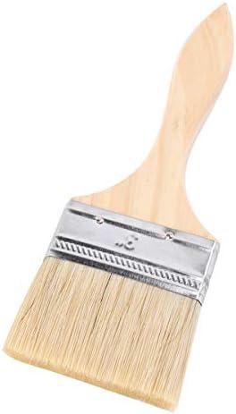 Yardwe チップペイントブラシ木製ハンドルブラシ塗料の汚れワニス接着剤バーベキュー画家用品