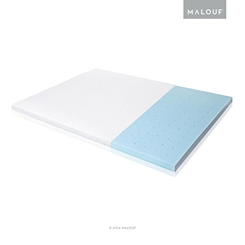 ISOLUS 2.5 Inch Ventilated Gel Memory Foam Mattress Topper - 3-Year Warranty - King