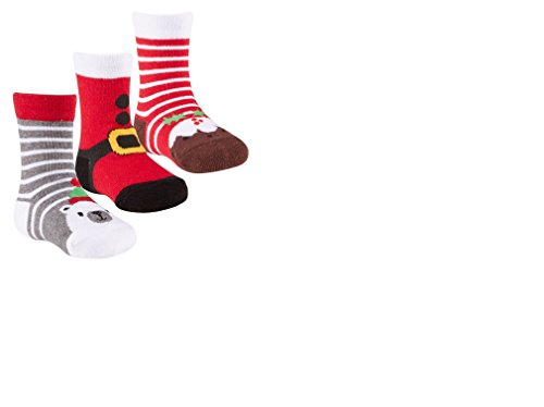 Babies 3 Pack of Christmas Socks- Raindeer, Santa, Snowman, Snowflakes, Bear, Elf (Christmas 22 Snowman Stocking)