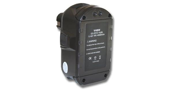 vhbw Batería Li-Ion 4000mAh (18V) para herramientas Ryobi CP ...