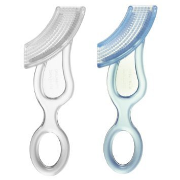 Baby Buddy Baby's 1st Toothbrush Teether-Innovative 6-Stage Oral Care System Grows With (Smile Baby System)