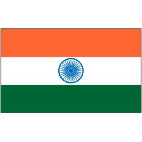 Online Stores, Inc. India 2x3ft Nylon Flag With Pole Hem Only - India And Store Online