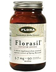 Florasil 4.7mg Silicon (from 10mg Silica from Hosetail Herb) (90Capsules) Brand: Flora