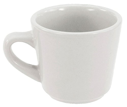 Crestware China Porcelain - Crestware Alpine Porcelain Bright White Tall Cup, 7 Ounce - 36 per case.