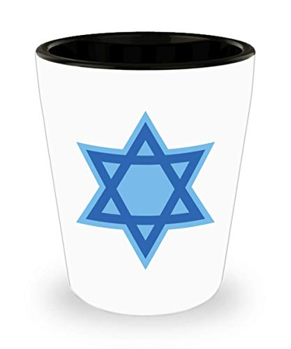 Bar Mitzvah Gifts Boys Bat Mitzvah Girl Shotglass Gift Present Ideas Star of David Jewish Confirmation Graduation Judaica]()