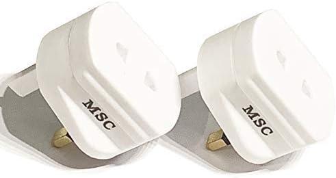 Pack 2 Afeitadora 2 Pin para Ru 3 Enchufe Convertidor Enchufe ...