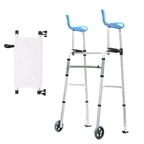 Amazon.com: Andador plegable de aluminio ligero con asiento ...