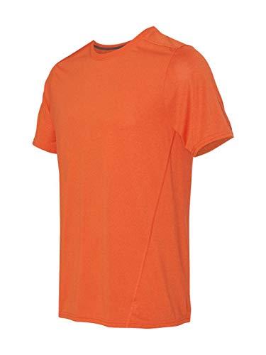 Gildan Mens Tech Short-Sleeve Performance T-Shirt. 47000 Marbled Orange S