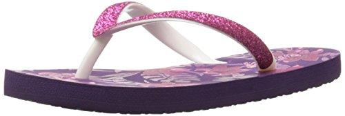 Reef Girls' Little Stargazer Prints-K Sandal, Purple Floral, 7/8 M US Toddler - Stargazer Apparel