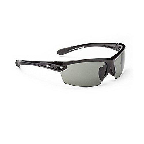Optic Nerve Voodoo Sunglasses, Shiny Black, Polarized Smoke - Voodoo Sunglasses
