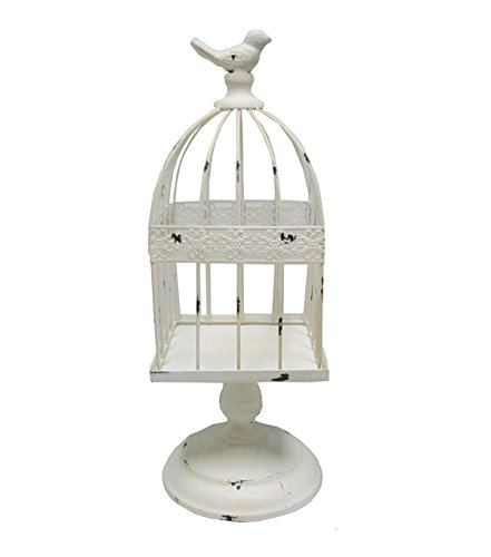 Rustic Bird Cage with Bird on Top Country Decor Chic Rustic