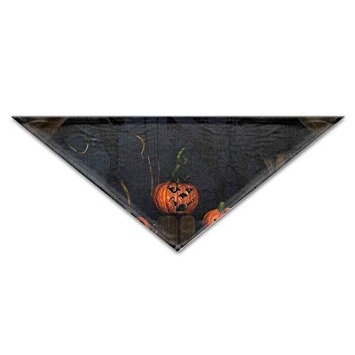 GOLLEY Dog Bandana Washable Reversible Scary Halloween Pumpkin Faces Triangle Bibs Scarf, Plaid Painting Kerchief for Small/Medium/Large Dogs and -