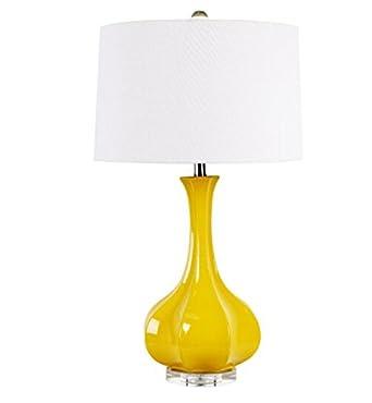 Estilo pastoral lámpara de mesa de arte de color creativo salón ...