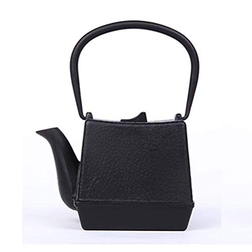 Z-H Japanese Cast Iron Tetsubin Cast Iron Square Teapot Japanese Asian Style with Stainless Steel Infuser 700Ml, teapot, - Iron Square Infuser Cast