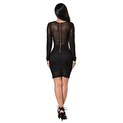 Carolina Dress Vestidos De Fiesta Bordados Sexys Cortos Casuales Ropa De Moda Para Mujer De Noche Elegantes Negros ve0076 at Amazon Womens Clothing store: