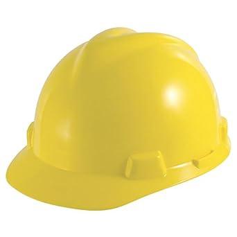 MSA V-Gard ranurado Cap amarillo FAS-TRAC III Suspensión – pequeño – ossg