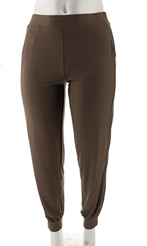 Lisa Rinna Collection Knit Ankle Pant Mocha M New A309057 from Lisa Rinna