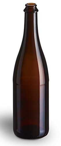 750ml Amber Beer Bottles (12/case) - Crown/Cork Finish