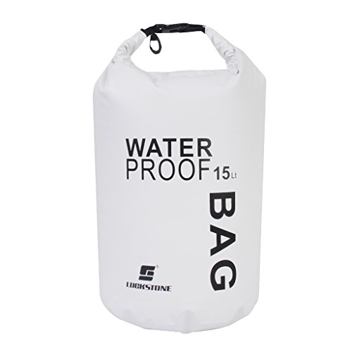 perfk Floating Waterproof Dry Bag – Roll Top Stuff Sack for Water Sports, Boating, Kayaking, Fishing, Caneoing, Swimming…
