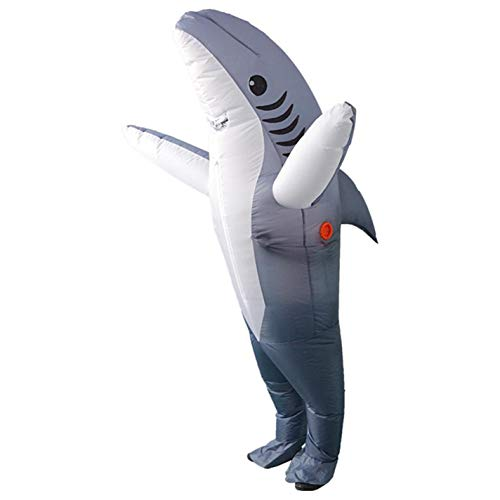 Adults Inflatable Shark Costume Suit Christmas Jumpsuits Party -