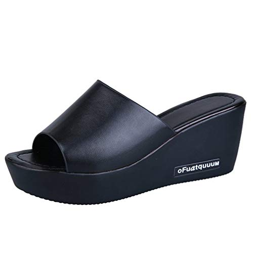 Femme Anti Slip Épaisses Black Slip Sandales YUCH a6Ov5W