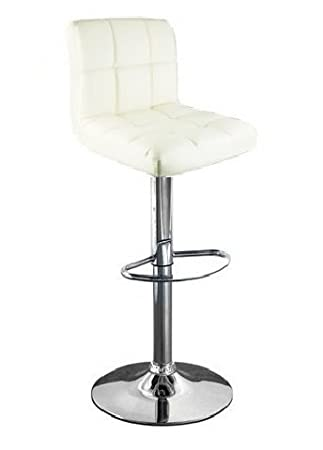 cuban white faux leather breakfast kitchen bar stools