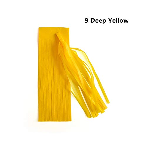 14 Inch Paper Tassel DIY Wedding Decoration New Year 2019 Party Paper Flower Birthdays Party Decorations,7 Deep Yellow]()