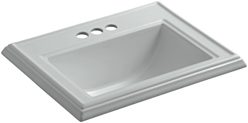 KOHLER K-2241-4-95 Memoirs Classic Drop-In Bathroom Sink with 4