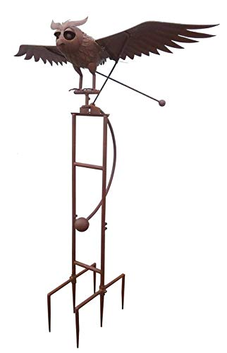Zaer Ltd. Large Rocking Owl Garden Stake with Flapping Wings by Zaer Ltd. (Image #1)
