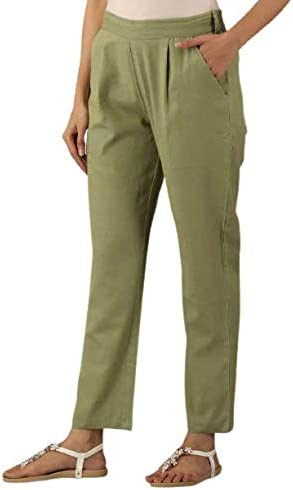 DIGITAL SHOPEE Regular Fit Women 's Pure Cotton Trousers Pants for Everyday Use, College Wear, Office, Casual Wear
