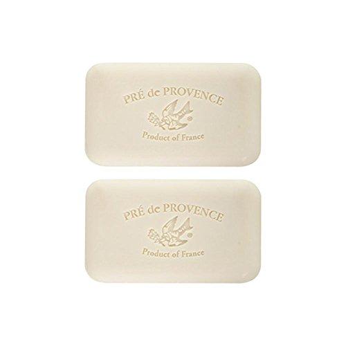 Pré de Provence, Sea Salt, Set of 2 Bars, Shea Butter Enriched Handmade French Soap Bath Bars, 250 Grams Each