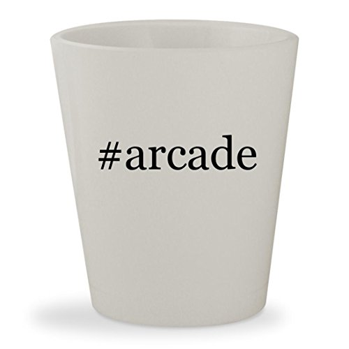 #arcade - White Hashtag Ceramic 1.5oz Shot Glass