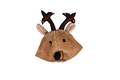 Novelty Christmas Reindeer Hat with Jingle Bells - One Size Fits Most (The Most Clever Halloween Costumes Ever)