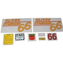 Tractor Decal Set, Oliver 66 Standard, Yellow, Mylar