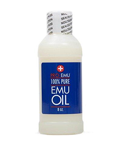 PRO huile d'émeu (8 oz) pur All Natural huile d'émeu - AEA certifié - Made In USA - Best All Natural Oil pour le visage, la peau, des cheveux et des ongles. Excellent pour la peau sèche, les brûlures, coups de soleil cicatrices, muscles et articulations
