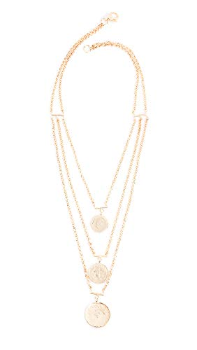 Bronzallure Women's Vintage Coin Statement Necklace, Gold, One - Multi Charm Strand Necklace
