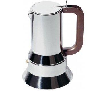 Alessi Coffee - Alessi 9090/M Stovetop Richard Sapper Espresso Maker 10 Cups