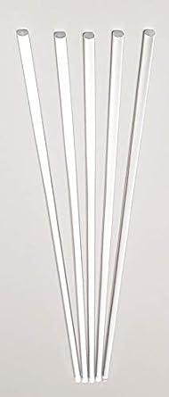 "24"" long clear acrylic plexiglass rod  lucite 3//16"" dia 3 pcs .187"