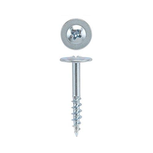 8 x 1 HighPoint Drawer Front Adjust Screws, Round Washer Head, Zinc, (Adjustment Washer)