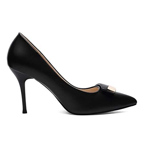 forme De Pointus Chaussures Pour Bei À Hauts Plate Version Shallow Des Imperméable Mouth Noir Femmes Coréenne Authentiques Bouts Talons Ensemble 7640x7F