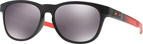 (Oakley Men's Stringer Non-Polarized Iridium Rectangular Sunglasses, RUBY FADE, 55 mm)