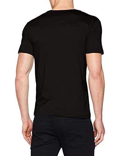 T black shirt S 9999 Noir Homme oliver FPqnBw5a