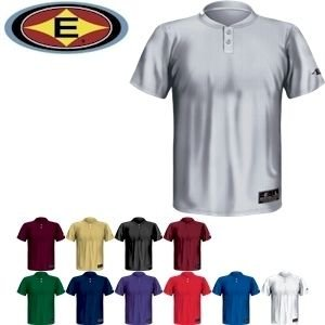 Easton Youth Skinz 2 Button Placket Jersey, Black, Medium