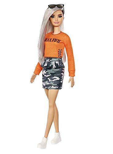 Boneca Barbie Fashionistas - 107 Malibu Saia Camuflagem