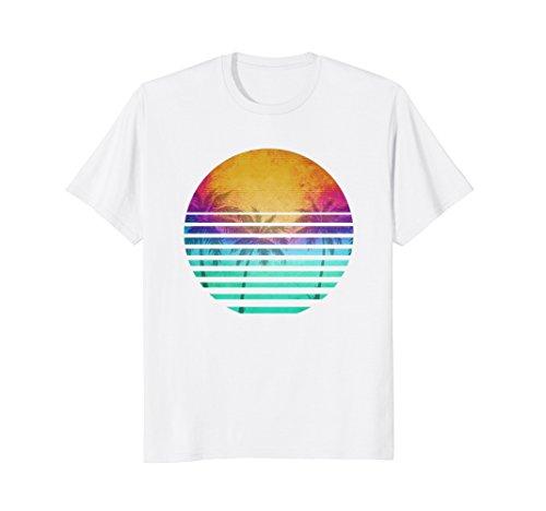 Vintage 80's Florida beach sunset retro (90s Party Theme Costume Ideas)