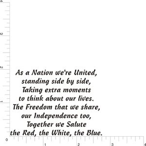 As A Nation Greeting Rubber Stamp By DRS Designs